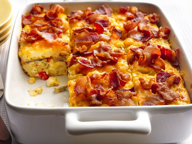 Bacon and Hash Brown, Egg Bake