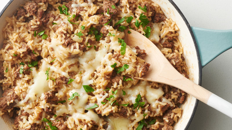 One-Pot French Onion Soup Rice Skillet
