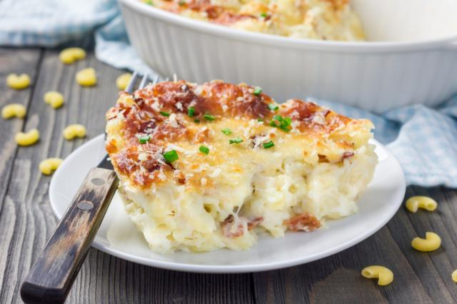 Mashed Potatoes - Macaroni - Bacon - Cheese Bake