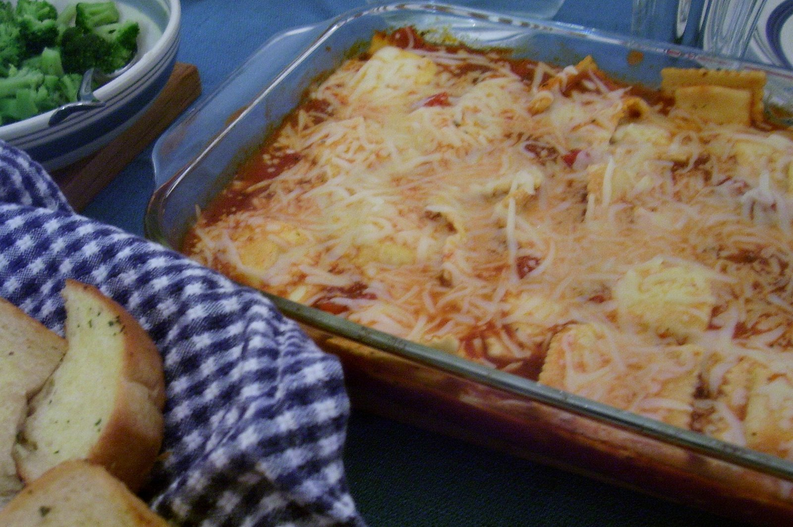 Fuss-Free Ravioli and Cheese Bake